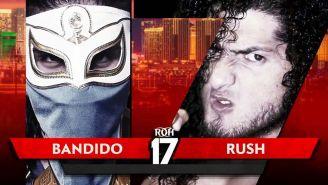 Promocional de Rush vs Bandido para ROH 17