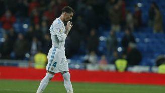 Ramos se lamenta después de un partido