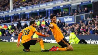 Raúl Jiménez celebra gol de Wolves