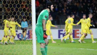 Petr Cech se lamenta tras anotación del BATE Borisov