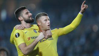 Así celebró Giroud su gol contra Malmö