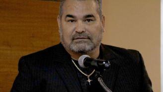 José Luis Chilavert platica ante los medios