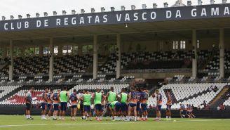 Jugadores del Vasco da Gama en entrenamiento