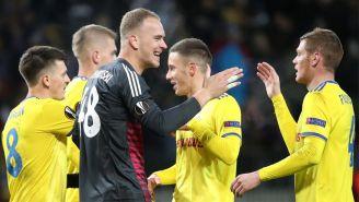 BATE Borisov festeja triunfo ante el Arsenal