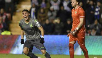 Moreno festeja anotación con la Real Sociedad