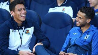 Moreno y Reyes platican previa al Real Sociedad vs Leganés