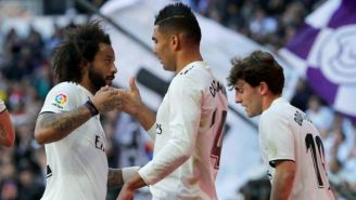 Marcelo y Casemiro en el partido vs Girona