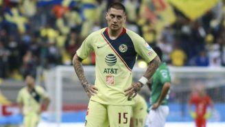 Nicolás Castillo durante encuentro contra León