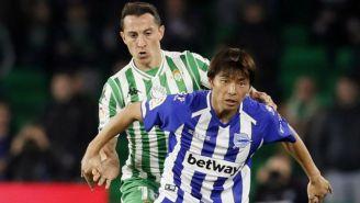 Andrés Guardado, durante el partido contra Alavés
