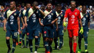 Jugadores del América después del partido vs Pumas