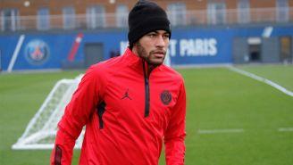 Neymar, durante una práctica con el PSG