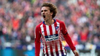 Griezmann festeja un gol con el Atlético de Madrid