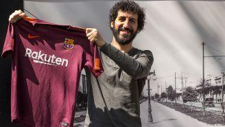 Marwan es un fiel seguidor del Barcelona