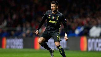 Cristiano Ronaldo en el partido contra Atlético