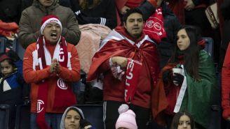 Aficionados del Toluca durante el partido ante Kansas City