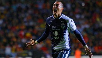 Rogelio Funes Mori celebra gol con Monterrey