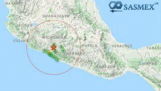 Lugar en el que se registró el sismo de Huetamo, Michoacán