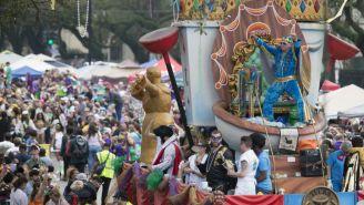 Desfile de 'Mardi Gras' en Nueva Orleans