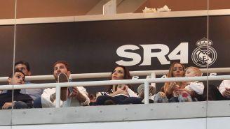 Ramos en su palco del Bernabéu