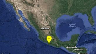 Punto donde se registró el sismo en Guerrero