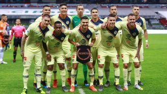 América tomándose la foto previo al partido ante Puebla