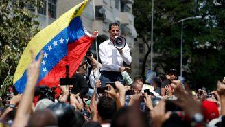 Juan Guaidó, durante una congregación