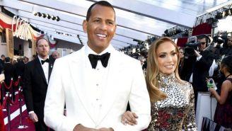 Alex Rodriguez y Jennifer Lopez llegan los premios Oscar