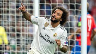 Marcelo durante un encuentro con el Real Madrid