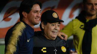 Bruno Marioni y Diego Armando Maradona