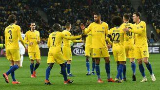 Los jugadores del Chelsea festejan tras la victoria sobre Kiev