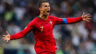 CR7 celebra una anotación contra España en Rusia 2018
