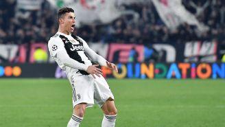 Cristiano Ronaldo haciendo polémico festejo ante el Atlético de Madrid