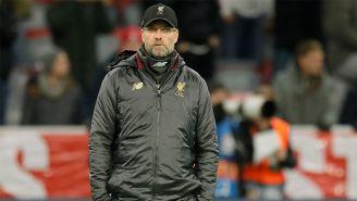 Klopp dirigiendo al Liverpool en la Champions League