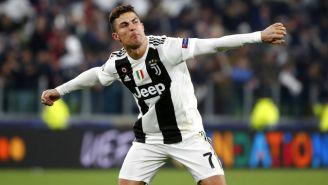 Cristiano festeja victoria de la Juventus en Champions
