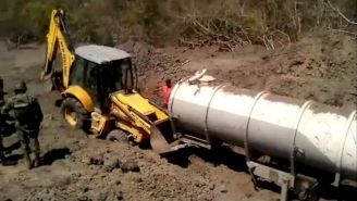 Tanques cisterna enterrados en Veracruz