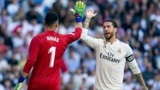 Navas y Ramos durante el partido contra el Celta