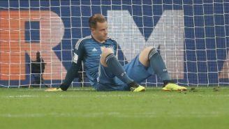 Ter Stegen durante un juego con la selección de Alemania