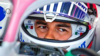 Pérez durante la primera sesión de práctica previo a Gran Premio