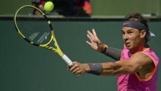 Rafael Nadal durante partido de Cuartos de Final de Indian Wells
