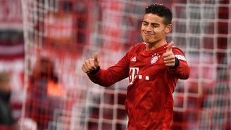 James Rodríguez en un partido con el Bayern Munich