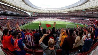 Vista del Wanda Metrpolitano en el Atleti vs Barcelona femenino