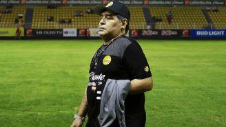 Maradona durante encuentro de Dorados