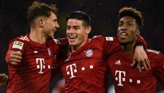 Bayern Munich festeja una anotación ante el Mainz