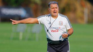 Gerardo Martino da indicaciones a los seleccionados