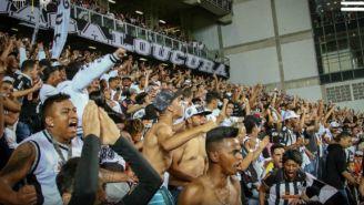 Aficionados del Atlético Mineiro durante un partido
