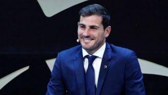 Casillas durante la presentación de La Liga Icons