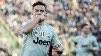 Dybala festeja un gol con la Juventus