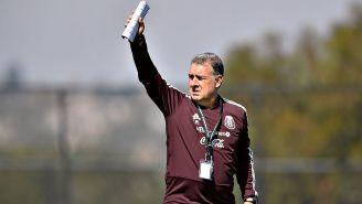 Gerardo Martino en una práctica con Selección Mexicana