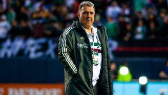 Tata Martino, durante el duelo amistoso contra Chile
