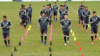 Selección Mexicana Sub 20 durante un entrenamiento